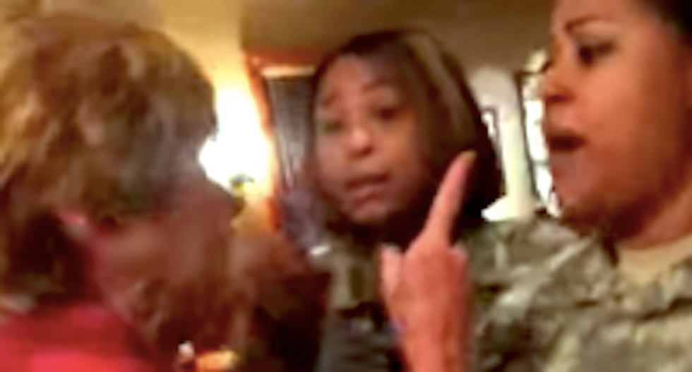 White woman goes berserk on two black soldiers at Georgia restaurant -- and then tries to play victim
