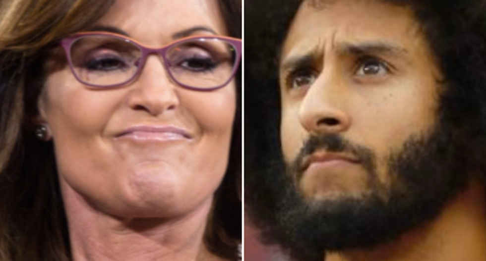 Sarah Palin gets roasted online for complaining about Colin Kaepernick's donation to Meals on Wheels
