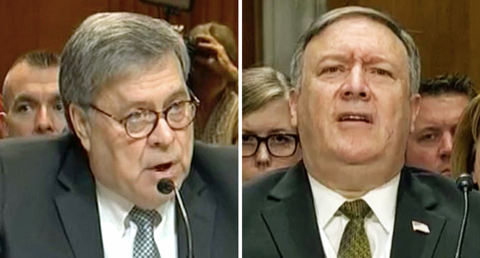 Down the rabbit hole with all of Trump's men: Barr and Pompeo go hunting to prop up the president