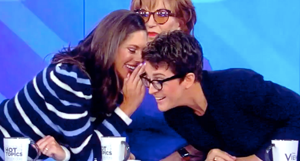 The View's Abby Huntsman blurts out-of-nowhere denial to Rachel Maddow: 'My dad is not the whistleblower'