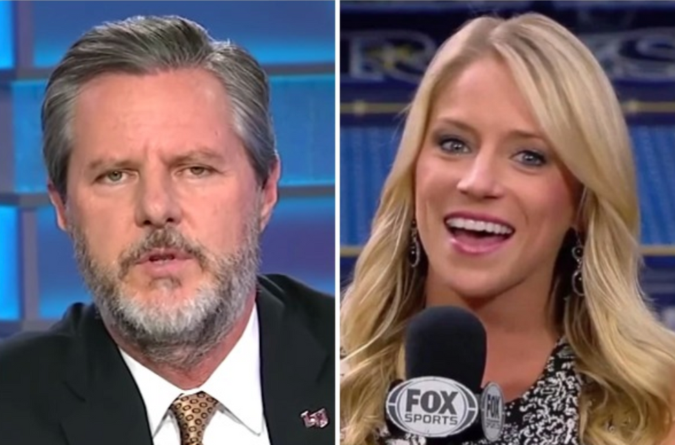 Jerry Falwell's Liberty University hires disgraced reporter who was fired for her racist rants