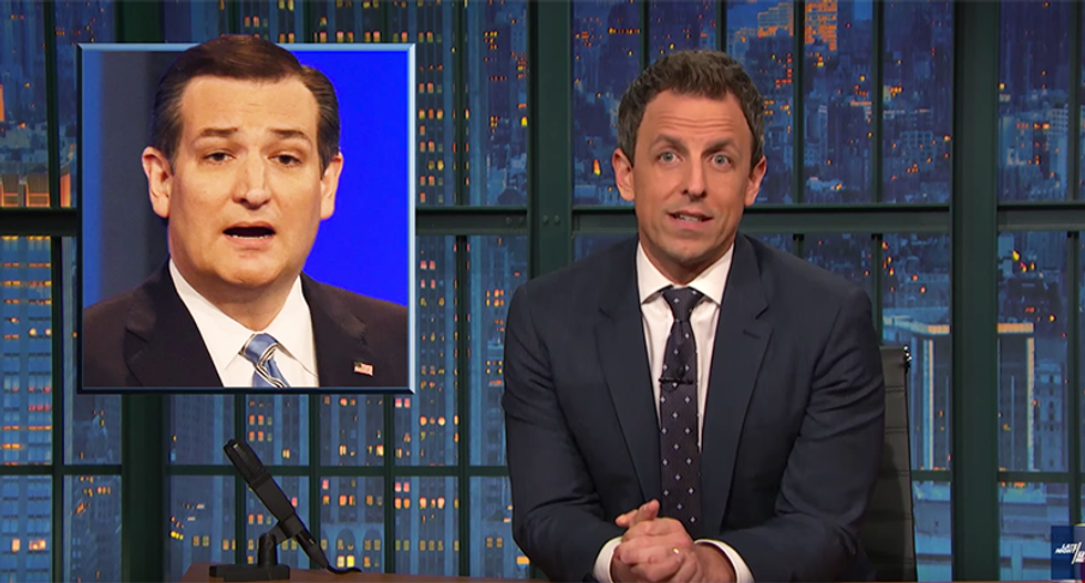 Seth Meyers just crushed Ted Cruz for his web of lies: 'He'll do or say anything to get elected'