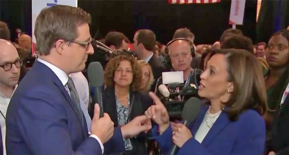 'I don't care': Watch Kamala Harris shut down Chris Hayes for asking a dumb question about Trump