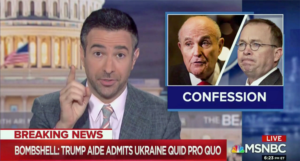 'Mulvaney basically owns himself': MSNBC's Ari Melber on White House confession — and flip-flop
