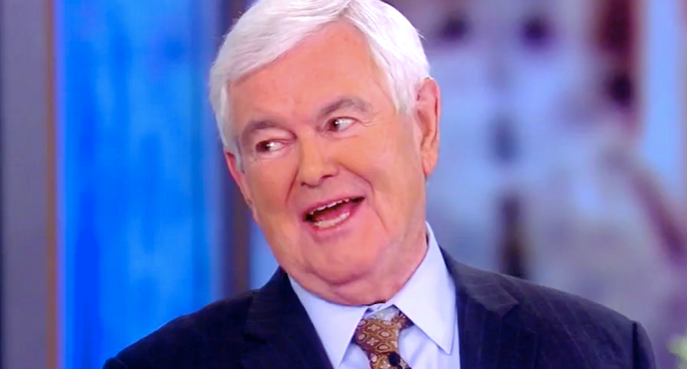 The View audience goes wild every time co-hosts school Newt Gingrich on Trump support
