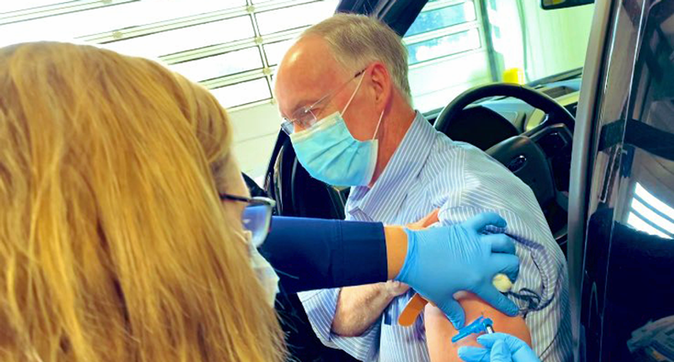 Disgraced former GOP governor given early COVID vaccine — after Alabama's supply was cut by 40 percent: report