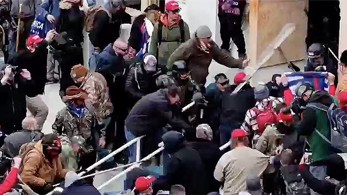Russian media outlets are pushing false claims about who's to blame for the Capitol riot