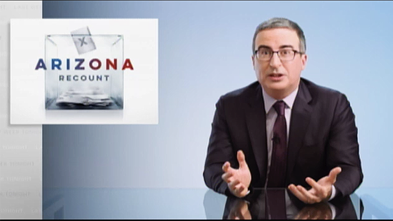 John Oliver trashes Arizona's 'pathetically desperate' election audit: 'We'll be lucky if nobody gets hurt'
