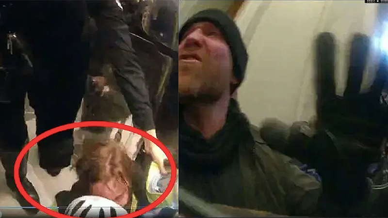 'Coolest thing I've ever done in my life': Rioter who bragged about pushing female cop down Capitol stairs arrested in Florida