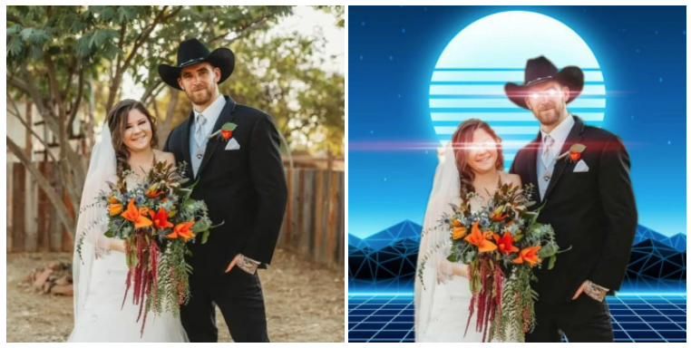 Publicly, she organizes MAGA truck caravans in California -- but her wedding photo is on a Nazi Telegram channel