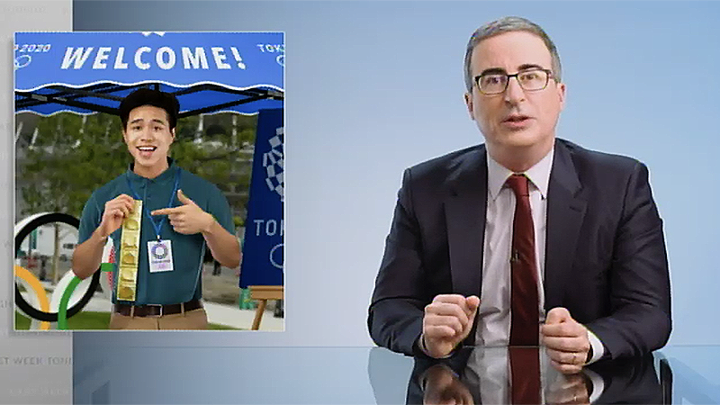 John Oliver explains why the only thing safe about the Olympics in COVID-ravaged Japan is the free condoms