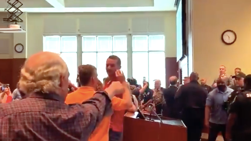 WATCH: Angry conservatives erupt in violence over Fox-hyped anti-racism lessons