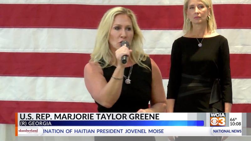 WATCH: Marjorie Taylor Greene claims vaccine door-knockers 'probably work for antifa by night'