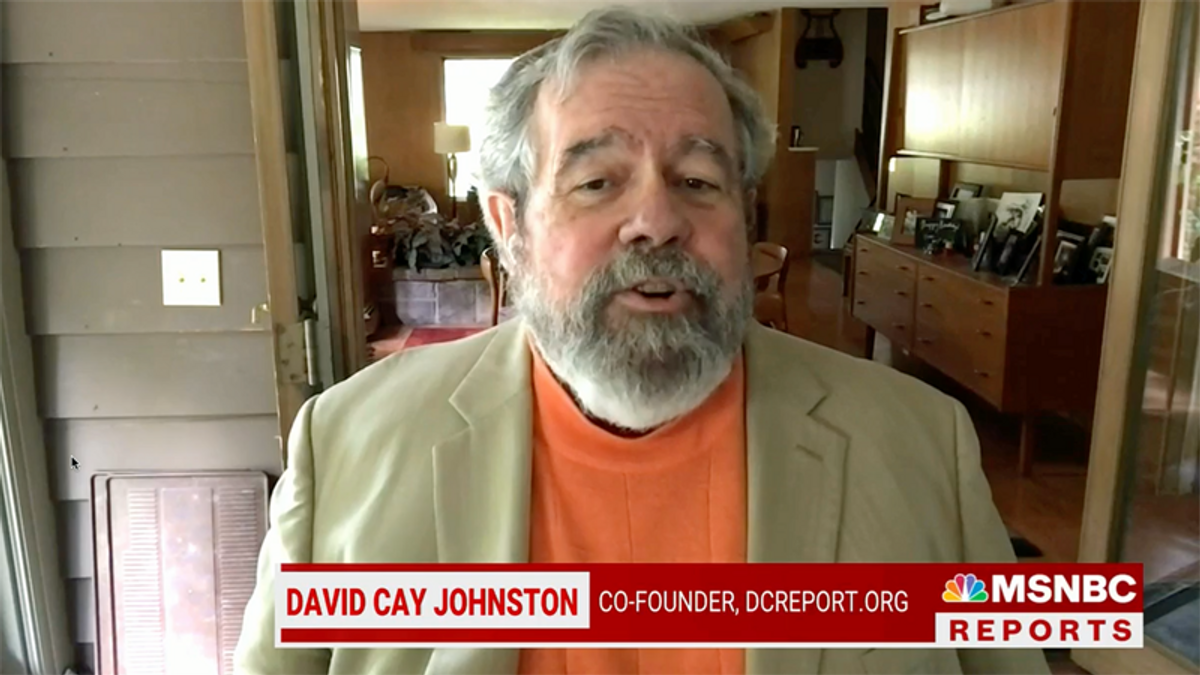 David Cay Johnston reveals why Trump 'forging' his tax returns is not the most important issue