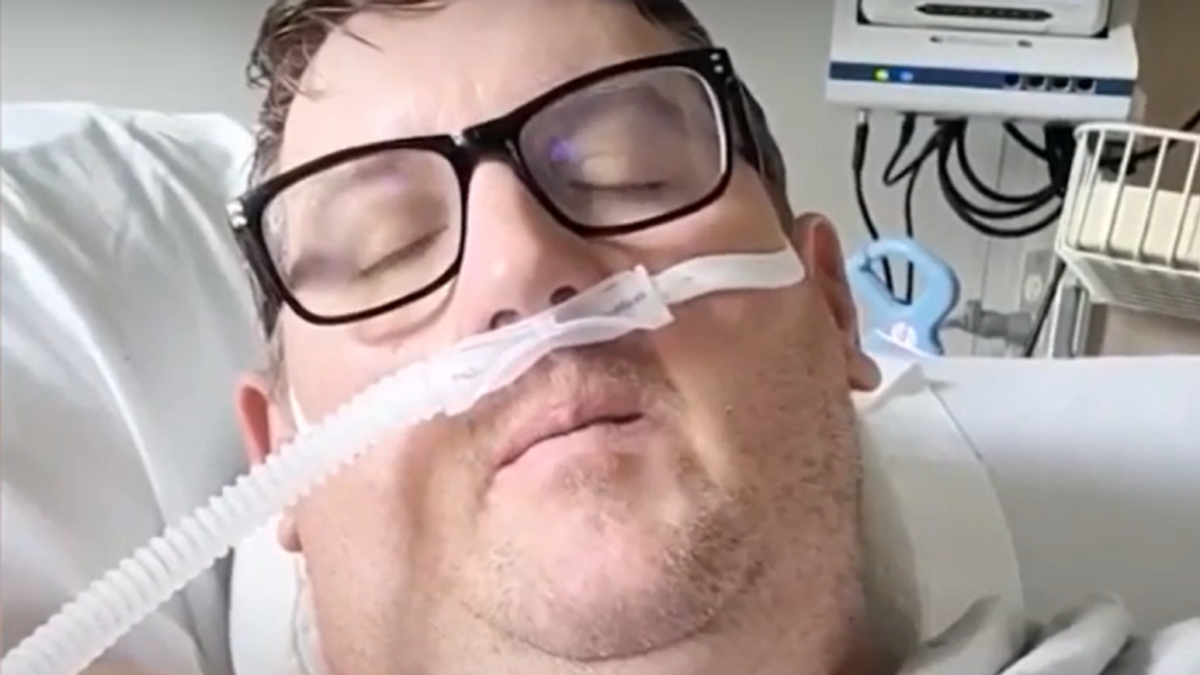 'I messed up big time guys': Unvaccinated COVID sufferer pleads with everyone to get the vaccine from his hospital bed