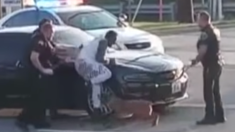 WATCH: White cop allows police dog to repeatedly bite Black suspect pinned against squad car