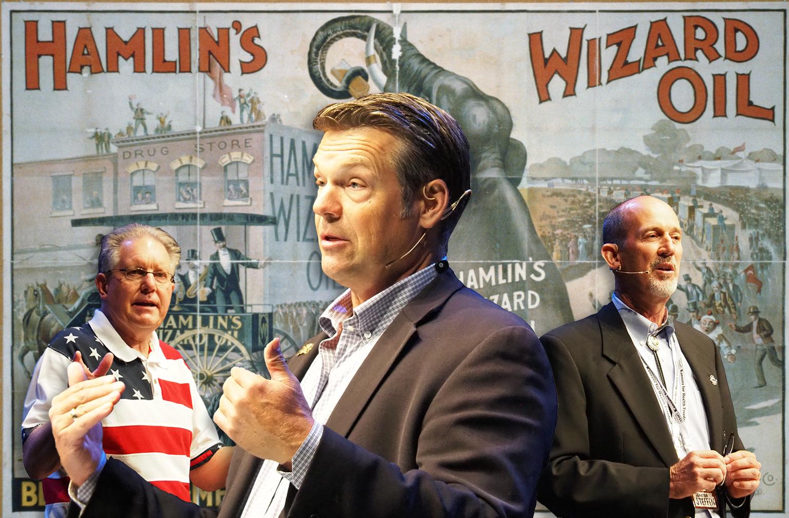 Plenty of hokum, grift and conspiracy mongering at Kansas anti-vax medicine show