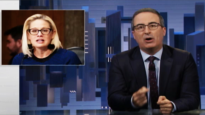 Kyrsten Sinema isn't quirky and eccentric — 'she's just bad at her effing job': John Oliver