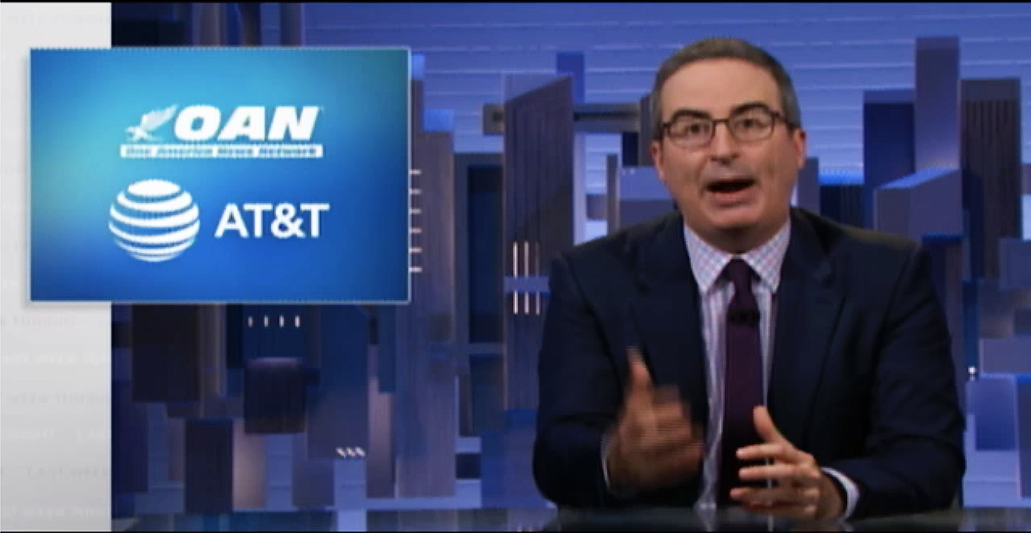 John Oliver destroys 'terrible company' AT&T after revelations they funded extremist network OAN