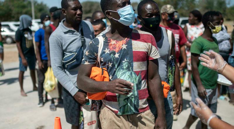US says no more Haitian migrants in Texas camp, most press on seeking asylum