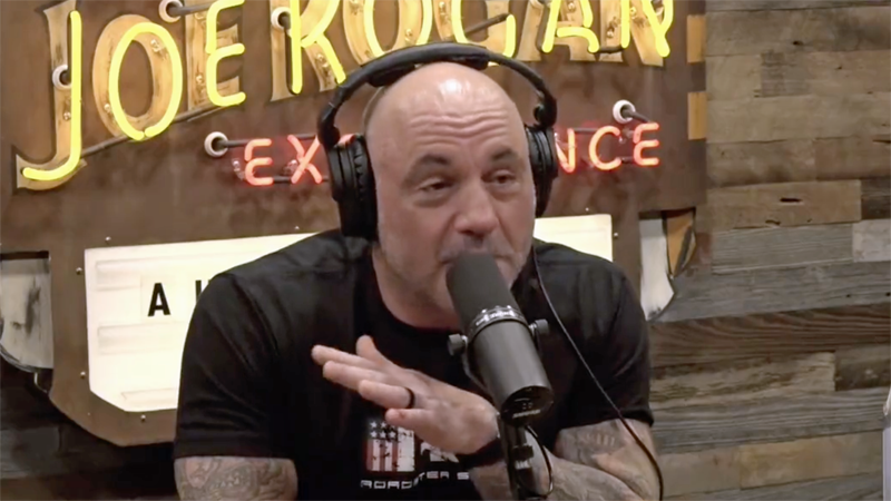 Spotify's Joe Rogan suggests Biden faked getting vaccinated on live TV: 'What if he gets it and faints?'