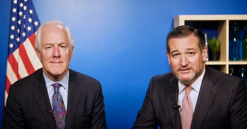 Ted Cruz and John Cornyn opposed a debt-limit increase that will stave off economic catastrophe -- but backed previous borrowing hikes