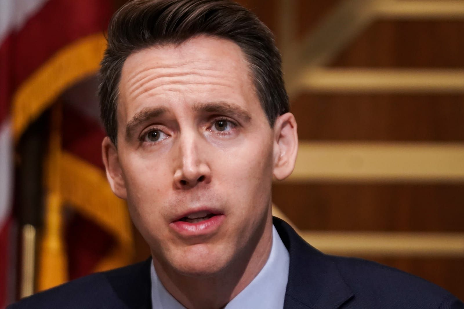 GOP's Josh Hawley sparks outrage by asking Capitol cops if they were 'complicit' in riot he helped provoke