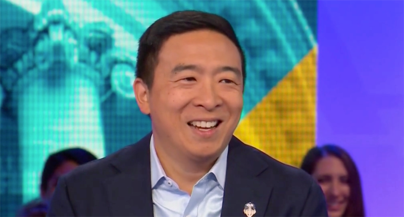 Andrew Yang tried to get an LGBTQ group's endorsement so he talked about wanting to visit a lesbian bar: NYT