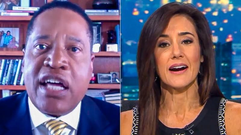 'My mother was a female': Larry Elder explodes at news anchor after she asks about his 'anti-women' remarks