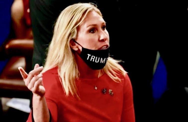 Marjorie Taylor Green (Erin Scott/Pool/AFP)