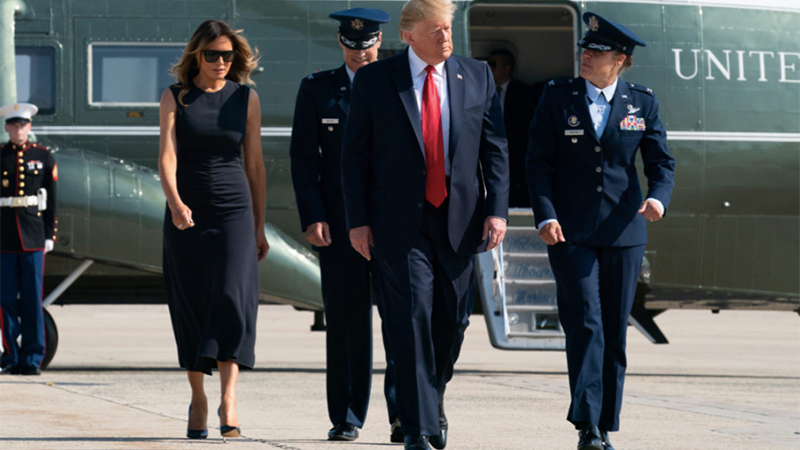 Melania would try to make Trump jealous by having 'handsome' military aides escort her around: book