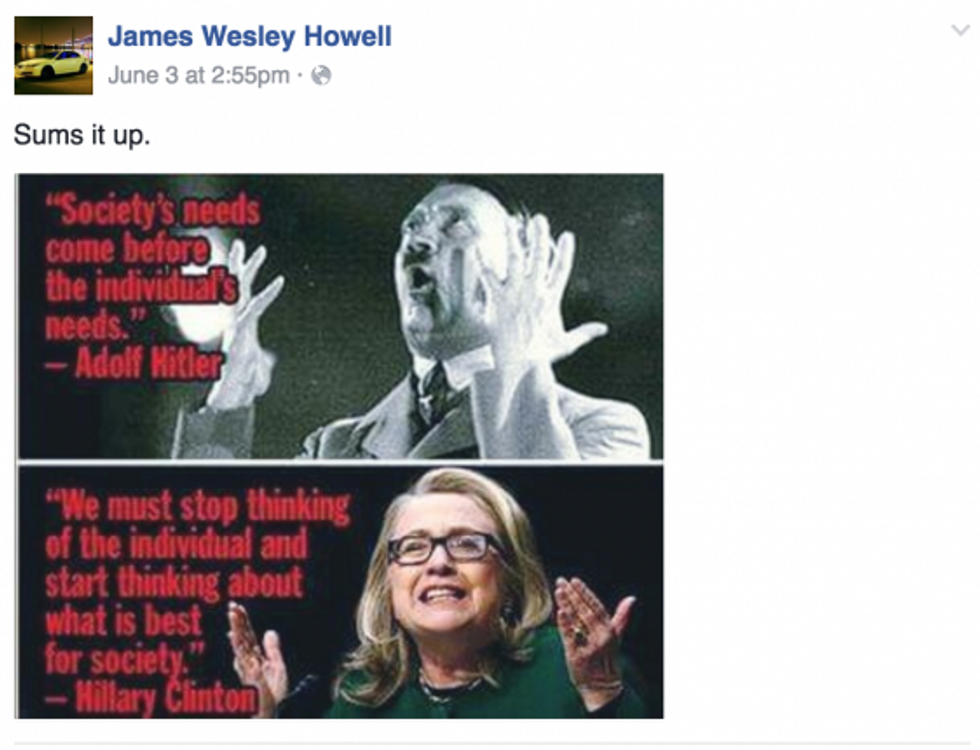 Meme posted by James Wesley Howell (Photo: Facebook screen capture)