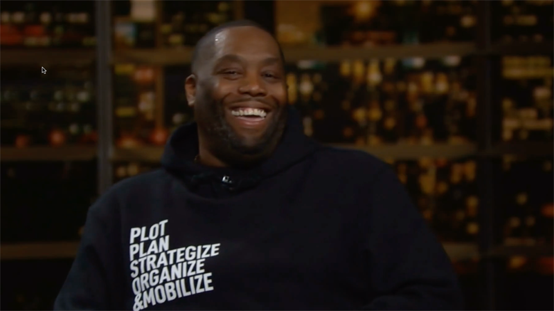 WATCH: Killer Mike hilariously makes the case for profane chants against Biden on 'Real Time'