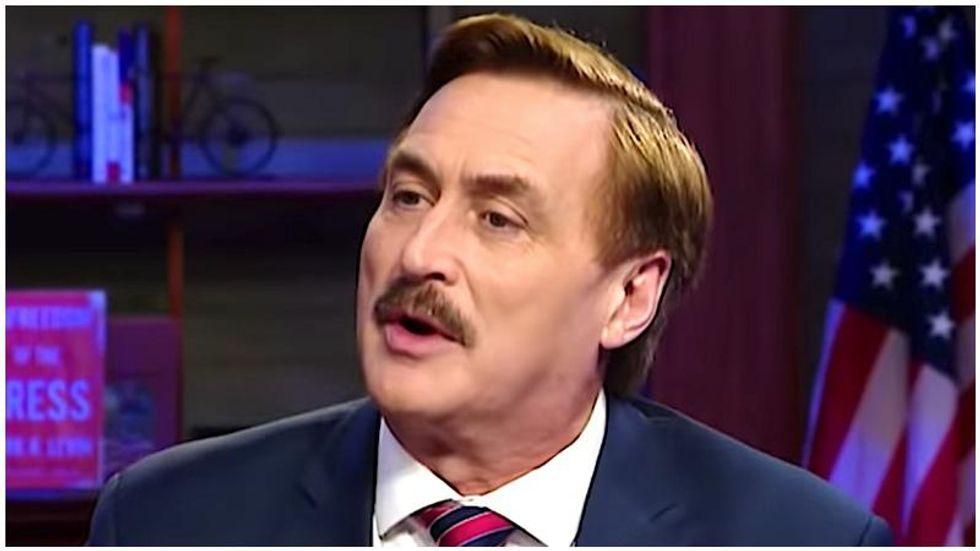 Mike Lindell claims a 'prophet guy' predicted he would change history prior to his first meeting with Trump