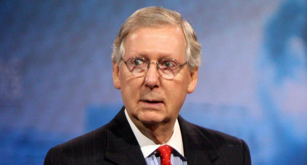 Mitch McConnell says he prays for Joe Manchin and Kyrsten Sinema every night