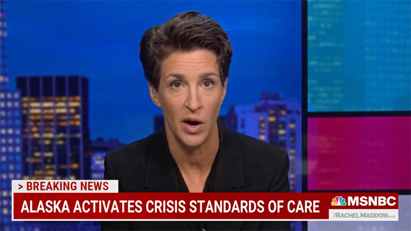 'This is not complicated': Maddow blasts anti-vaxxers as yet another GOP-led state rations hospital care