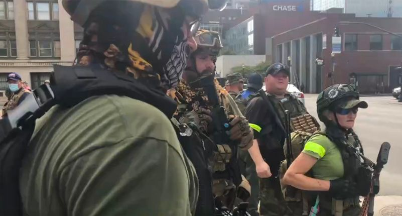 Right-wing militants furious after data leak exposes their involvement in paramilitary group
