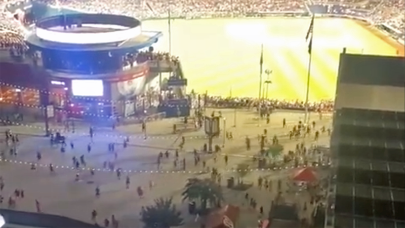 WATCH: Pandemonium after 4 shot outside Nationals' stadium during Padres game