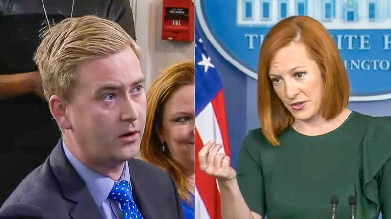 'Would you agree?' Jen Psaki deftly gets Peter Doocy to admit violent crime is 'caused' by guns