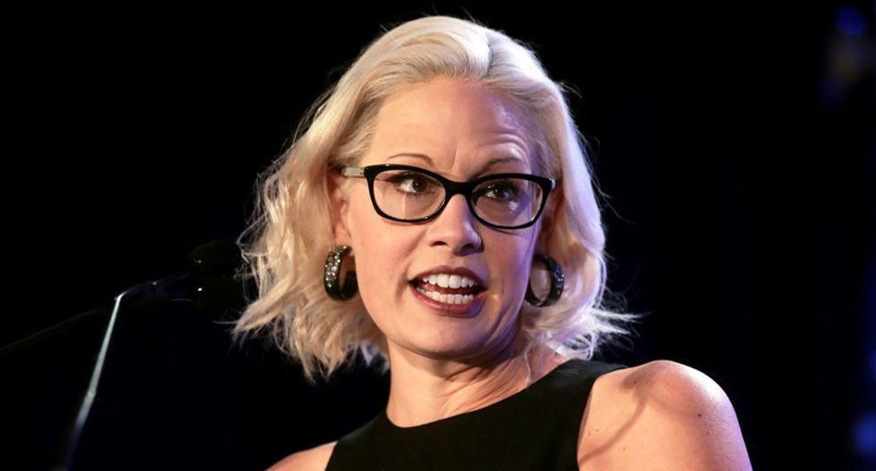 A 'cartoonish' level of corruption: Kyrsten Sinema blasted for fundraising from business groups opposed to Dem agenda