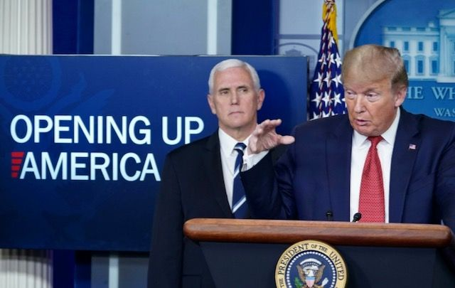 Trump doesn't think Pence will remove him -- so he's got a defiant week planned