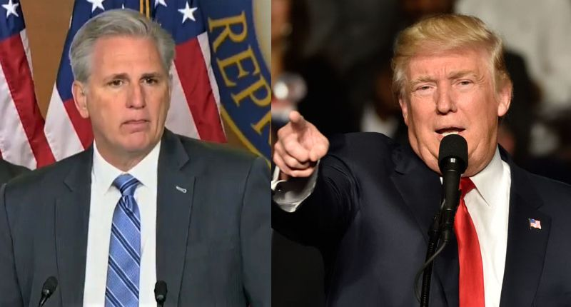 Trump is furious with GOP leader Kevin McCarthy -- even though he didn't support impeachment