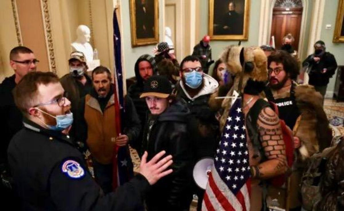 Proud Boy arrested for Capitol riot with help of photo at antifa website