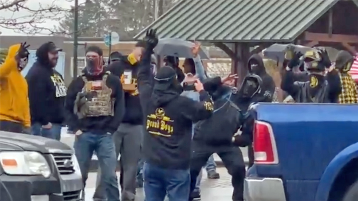 'The mask slips': Proud Boys joining white supremacists in 'White Lives Matter' rallies across the US