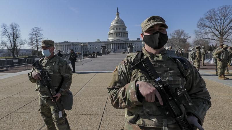 Two National Guard members removed from Biden's security detail over ties to white supremacist groups