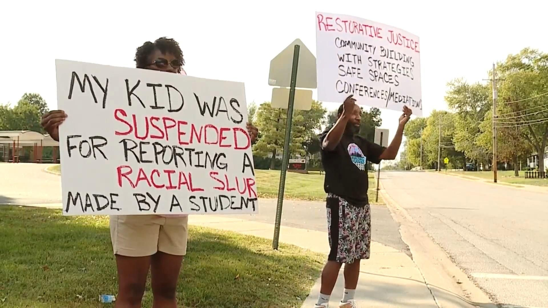 Black parents say school suspended their daughter for 'stirring things up' by complaining about a racial slur