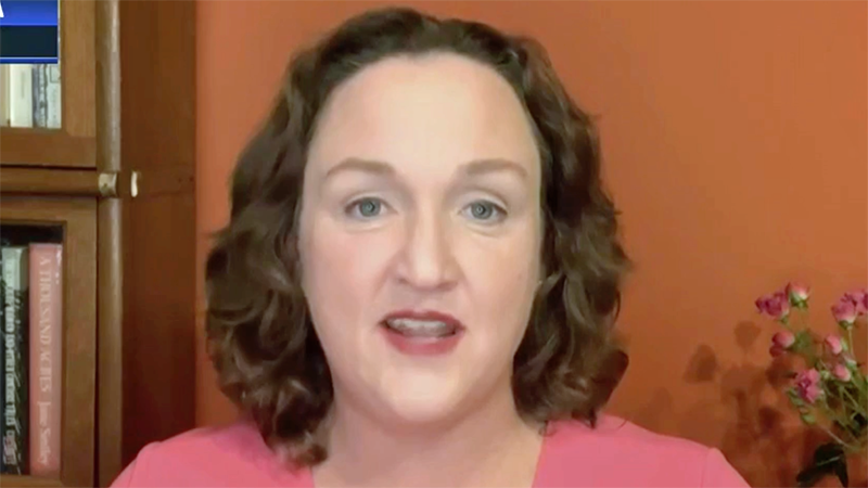 WATCH: Katie Porter recalls the harrowing details of sheltering AOC during Trump's insurrection