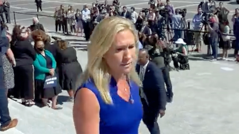 Marjorie Taylor Greene's chief of staff quits — only hours after her public meltdown on the Capitol steps