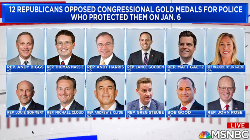 Republican who voted against Capitol Police medals now rallying for cop who shot Ma'Khia Bryant