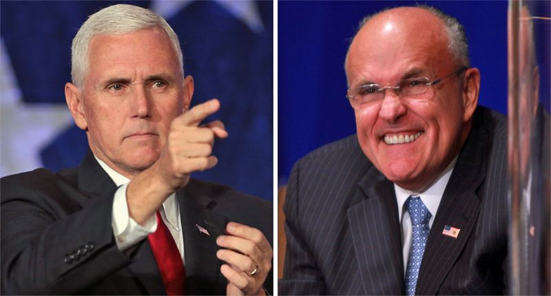 Giuliani set Pence up as Trump's fall guy to cover for his lawsuits getting laughed out of court: book